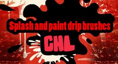 Splash and Paint Drip - Download  Photoshop brush http://www.123freebrushes.com/splash-and-paint-drip/ , Published in #GrungeSplatter. More Free Grunge & Splatter Brushes, http://www.123freebrushes.com/free-brushes/grunge-splatter/ | #123freebrushes
