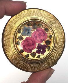 Vintage Compact KIGU LONDON Lucite Reverse Carved Floral | Etsy