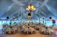 Tented Wedding receptions can look elegant.