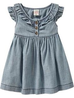 Old Navy has had the cutest toddler clothes this year.love love the denim Little Girl Fashion, Toddler Fashion, Kids Fashion, Fashion Wear, Little Girl Outfits, Toddler Outfits, Kids Outfits, Moda Kids, Kind Mode
