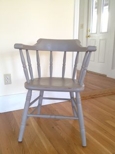 Captains chair painted with annie sloan chalk paint french linen