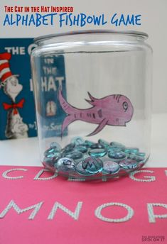 The Cat in the Hat Alphabet Fishbowl Sensory Game! Create a playful game inspired by this popular Dr. The Cat in the Hat Alphabet Fishbowl Sensory Game teaches letter recognition with this beloved fish. Dr Seuss Activities, Alphabet Activities, Language Activities, Activities For Kids, Reading Activities, Preschool Ideas, Sequencing Activities, Dr Suess Games, Preschool Literacy
