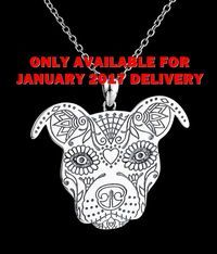 Sugar Skull Pit Bull Sterling Silver Necklace and Charm - Brew City Bully Club Special Edition