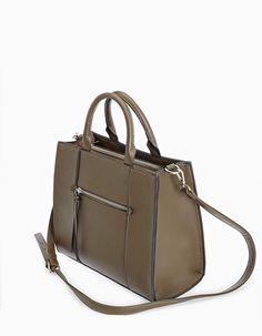 Tote bag από σταθερό υλικό με φερμουάρ - Αξεσουαρ | Stradivarius Greek