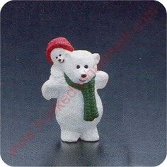 1990 Papa Polar Bear and Child - Merry Miniature