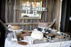 how sweet it is... dessert table