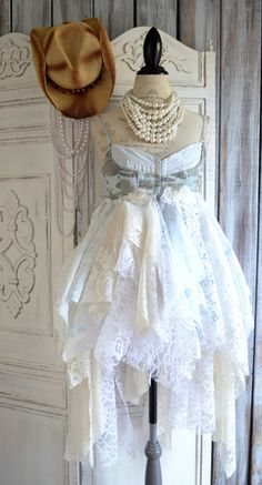 Country Prom dress, Shabby party dresses True Rebel Clothing