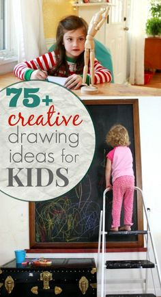 75+ Creative Drawing Ideas for Kids - So many ideas encouraging creativity, building drawing skills, and having fun