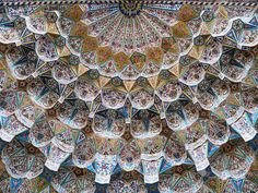 Facets of heaven, Front door ceiling of the Vakil mosque at Shiraz, Iran