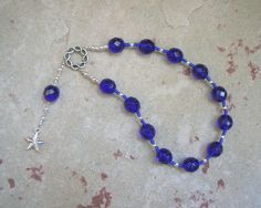 Nut (Nuit) Pocket Prayer Beads: Egyptian Goddess of the Sky and Stars by HearthfireHandworks on Etsy