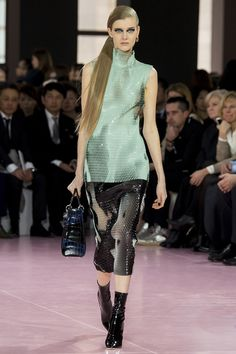 Christian Dior fall'15. Love this textured mesh silhouette.