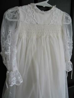 Carly's Christening gown of 80 year old liturgical lace