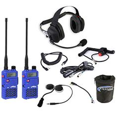 Rugged Radios IMSA-5R-H43 IMSA Racing System - Includes 2 RH5R Radios, H43 Headset, Helmet Kit with Speakers, Cables and Radio Bag ** More info could be found at the image url. (This is an affiliate link)