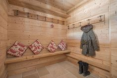 In an elevated position above the alpine resort of Châtel, Chaletneuf du Tenne is a modern, luxury 4 bedroom chalet with indoor pool and spectacular views. Wall Storage, Storage Ideas, Chatel, Drying Room, Coin, Mud, Skiing, Beach House, Basement