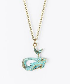 Look what I found on #zulily! Turquoise Mermaid Pendant Necklace by Gleeful Peacock #zulilyfinds