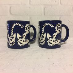 Waechtersbach Coffee Mugs Tea Cups Nautical by ColsonsCollectibles