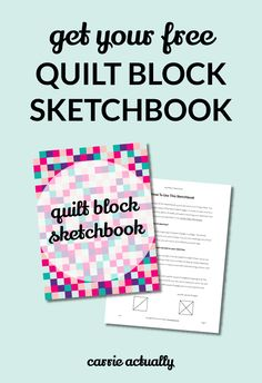With this free printable sketchbook, it's fast and easy to try out lots of geometric quilt block designs before you commit to cutting your fabric. A pen or pencil is all you need to get started. Click through to get your copy!