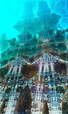 Bones in blue water by IvanDuran9.deviantart.com on @DeviantArt