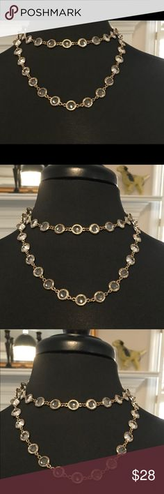 SALE Double set Crystal and gold tone. Wear as or load on more. Simply lovely. Jewelry Necklaces