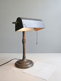 classic bronze banker's desk lamp.