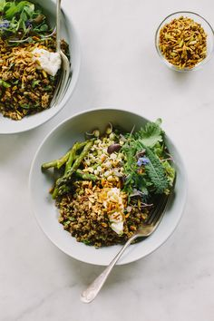 Spiced lentil bowls with turmeric seeds | My Darling Lemon Thyme