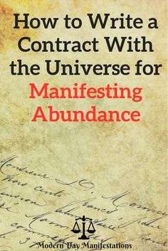 There is no better way to get really clear with your desires than writing a contract with the universe.Read this Free Ebook to know how to manifest your dreams using the law of attraction . Manifestation Law Of Attraction, Law Of Attraction Affirmations, Manifestation Journal, Mantra, Manifesting Money, Mental Training, Money Affirmations, Chakra Affirmations, A Course In Miracles