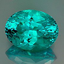 """#Apatite """"Portuguese"""" Cut Oval  Weight: 7.66 cts  Measurements: 14x10.5 mm, depth 8.2mm   From Madagascar; #JPS"""