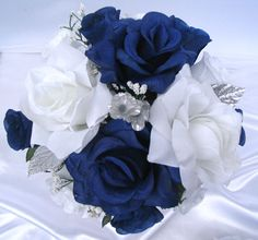 boquets of white and navy blue | We are committed to offer you our products in a perfect balance of top ...