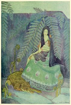 Dorothy Lathrop, A Little Boy Lost by W. Hudson, Alfred A. Knopf ~ c Chapter XI ~ The Lady of the Hills She raised him in her arms and pressed him to her bosom, wrapping her hair like a warm mantle around him. Lost, Art Nouveau, Mary Blair, Art Database, Mother And Child, Female Art, Vintage Art, Vintage Prints, Vintage Toys