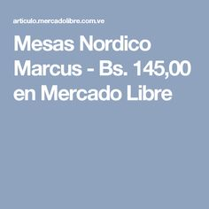 Mesas Nordico Marcus - Bs. 145,00 en Mercado Libre Free Market, Venezuela, Mesas