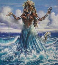 Yemaya fue quien le enseñó a los orishas el arte de amar!!!