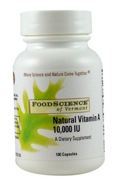 Food Science of Vermont Natural VitaminA 10000 IU 100 Capsules >>> To view further for this item, visit the affiliate link Amazon.com.