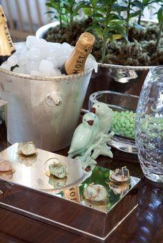 Inspiração de como servir champagne de maneira descolada e chic!!