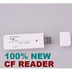 High Speed CF Compact Flash USB Card Reader for use with Digital SLR, DSLR, Digital Cameras! (Personal Computers)