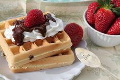 Passion 4 baking » Chocolate Chip Belgian Waffles Belgian Waffles, Getting Hungry, Good Food, Brunch, Chips, Baking Chocolate, Cooking, Breakfast, Recipes