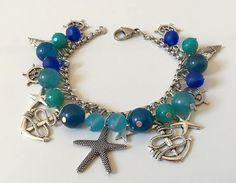 Bracciale mare, bracciale àncora, bracciale timoni, bracciale stella marina, bracciale oceano, bracciale azzurro