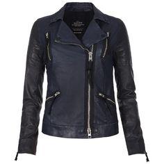 Level Leather Biker Jacket ($768) ❤ liked on Polyvore