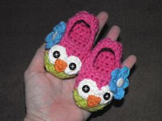 Baby Owl Slippers Made to Order Crochet by SweetCheeksGiftStore sooo cute