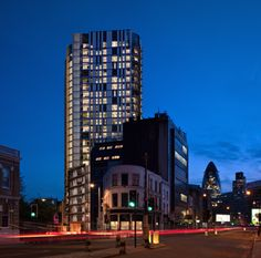 Barratt London's 27-storey tower at Altitude, Aldgate.  By RMA architects