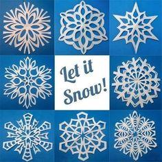 Creative Ideas - 8 Easy Paper Snowflake Templates | iCreativeIdeas.com Follow Us on Facebook --> https://www.facebook.com/iCreativeIdeas