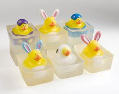 Cute Duck and Bunny Soap. Great Easter Bunny Gift for Kids :)