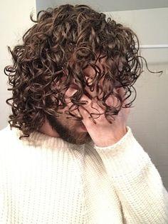 Long Curly Hair Men, Curly Hair Cuts, Wavy Hair, Boys Long Hairstyles, Curled Hairstyles, Curly Hair Tutorial, Natural Hair Styles, Long Hair Styles, Hair And Beard Styles