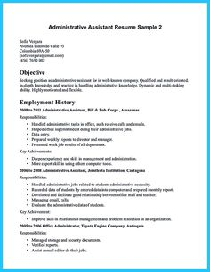 Nice Sample To Make Administrative Assistant Resume  Resume