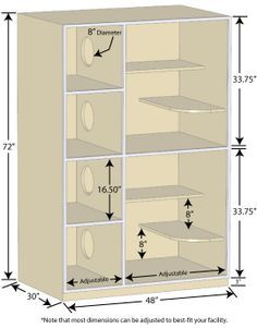 Gator Kennels Cat Hotel unit dimensions. Most measurements can be changed - but these are the most popular units built. These cat enclosures are very space-efficient and provide lots of room for the cats.