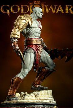 Kratos Statue by ~loqura on deviantART