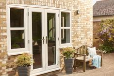 Cream uPVC French doors