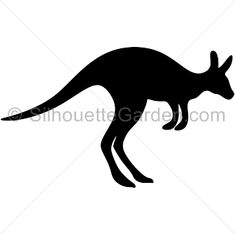 Kangaroo silhouette clip art. Download free versions of the image in EPS, JPG, PDF, PNG, and SVG formats at http://silhouettegarden.com/download/kangaroo-silhouette/
