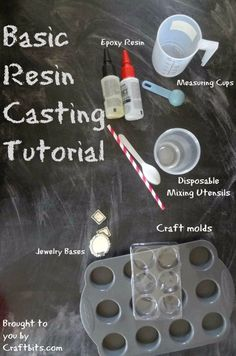 Basic Resin Casting - Tutorial: colate in resina In this tutorial, you will learn about basic resin casting - the types of resins, how to measure them and how yto work with them. You will also learn about different types of molds and how to mix th. Diy Resin Crafts, Jewelry Crafts, Stick Crafts, Recycled Crafts, Jewelry Ideas, Hobbies And Crafts, Arts And Crafts, Buy Resin, How To Make Resin