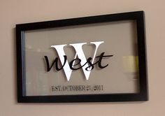 Vinyl layered on glass and frame. Could also place a Silhouetted geometric pattern in background for holiday or everyday decor
