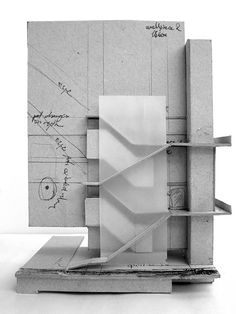 Sketch model for a stair-system by Jon Reksten.                                                                                                                                                                                 More